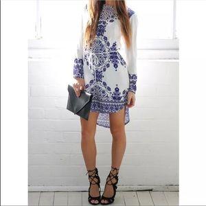 Dresses & Skirts - Blue white tunic dress
